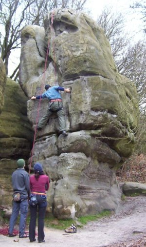 The tricky Key Wall in Stone Farm Pinnacle